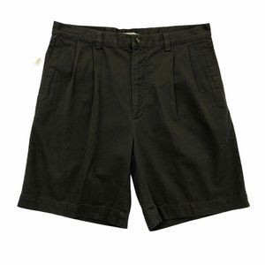 TURNBURY Men's Casual Pleated Green Shorts 38 NEW